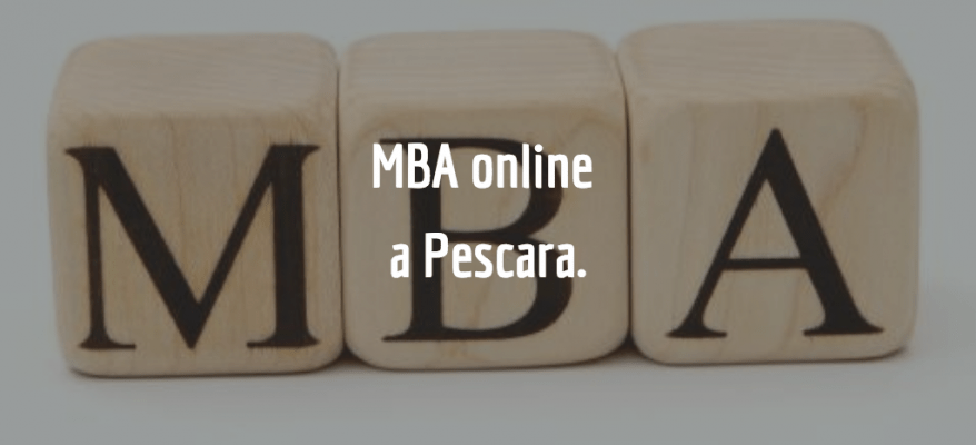 Studiare per un master online in Business Administration a Pescara.